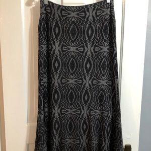 Black and gray reversible skirt